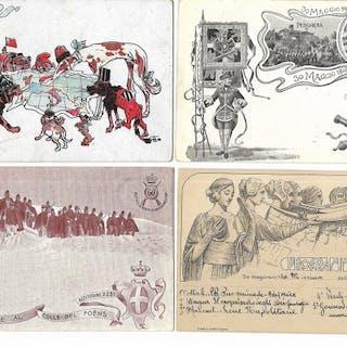 Italia - Battaglia - Cartoline (Collezione di 100) - 1902-1940