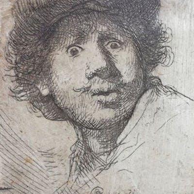 Rembrandt Harmensz van Rijn (1606-1669) - Self Portrait in a Cap