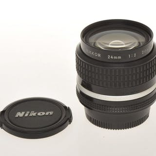 Nikon , nice fast super wide angle lens 24mm F:2 24/2 Nikkor AIs, exc+++