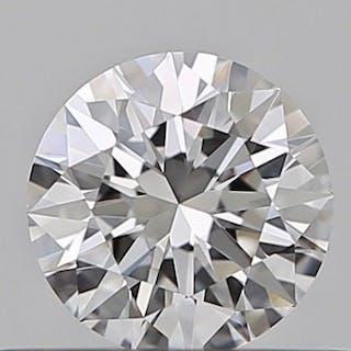 1 pcs Diamant - 0.31 ct - Brillant - D (incolore) - IF (pas d'inclusions)