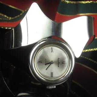 Modernist Uhr - 835 Silber - Armband