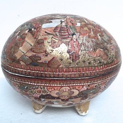Tripod lidded bowl - Ceramica craquelé - Porcellana...