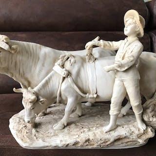 Alois Hampel - Royal Dux - Sculpture (1) - Art Nouveau - Porcelain