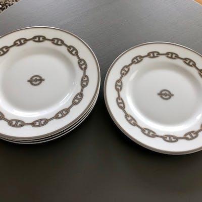 Hermes - Plates, Chain d'Ancre Platinum (4) - Porcelain