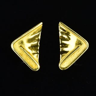 18 kt. Yellow gold - Earrings