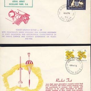 Mondo - 84 FDC,  cartoline , lettere ed altro - tematica Spazio