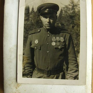 Russland - Armee/Infanterie - Foto Album Rote Armee Russland Offizier Mannschaft