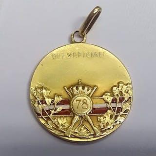 """Italia - Regio Reggimento Fanteria """"Lupi di Toscana"""" - Medaglia - 1919"""