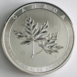 Kanada - 50 Dollars 2019 - Maple Leaf Magnificent - 10 oz - Silber