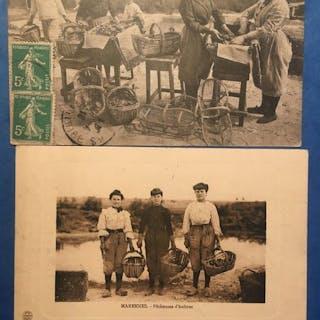 Métier, Oyster farming - Cartes postales (Ensemble de 42) - 1900-1920