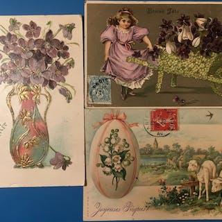Fantaisie - Cartes postales (Collection de 103) - 1900-1920