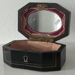 Blackened wood Boulle jewelry box - Napoleon III - Bronze - Late 19th century