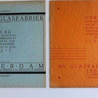 A.D. Copier. - Glasfabriek Leerdam. Lot met 2 uitgaven- 1926/1927
