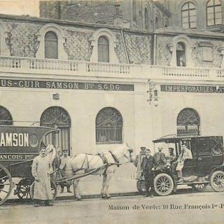 France - Pneus - Cuir Samson - Rue François 1er Paris 75...