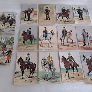 Armée russe - Cartes postales (12 cartes de Robiquet pierre victor