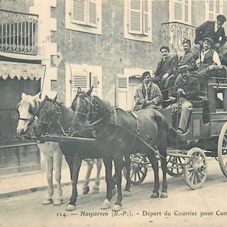 France - Départ du Courrier pour Combo Les Bains...