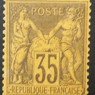 France 1878 - Sage, type II, 35 c. violet-noir - Yvert 93