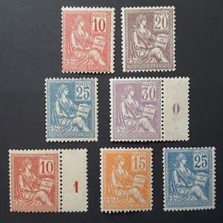 France 1900/1901 - Mouchon type I et II