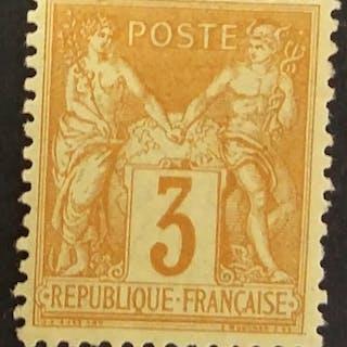 France 1878 - Sage, type II, 3 c. bistre-jaune - Yvert 86