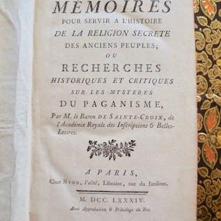 M. Le Baron de Sainte Croix  - Mémoires pour servir à...