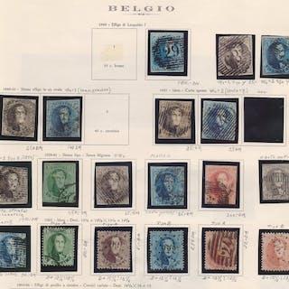 Belgio 1849/1863 - Collezione sulle prime emissioni del...