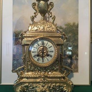 Reloj de sobremesa - Japy Frères - Bronce, chapado en oro - siglo XIX