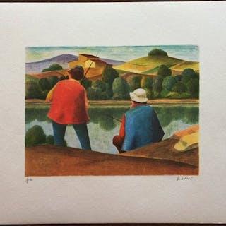Roberto Masi - Paesaggio - 2 litografie originali