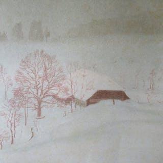 Karl Biese (1863 - 1926) - Winternebel