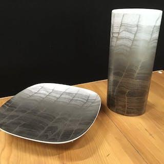 Rosenthal - 100 Jahre Rosenthal große Vase und Teller - Porzellan