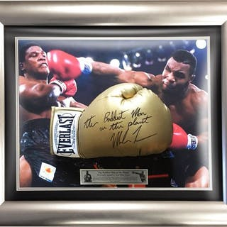 Signed & Framed Baddest Man on The Planet - Boxing - Mike...