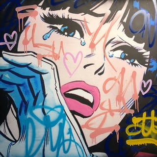 Dillon Boy - Graffiti Girl Street Art / You Stole My Banksy