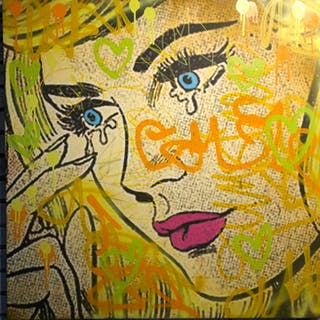 Dillon Boy - Graffiti Girl Street Art / You Stole My Pablo Picasso