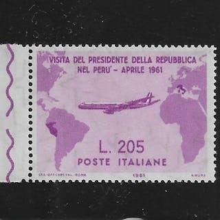 Italy Republic 1961 - Gronchi Rosa 205 Lire pink lilac - Sassone N. 921