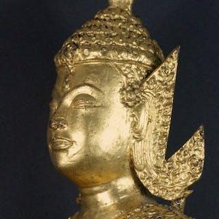 """Large bronze and gilt """"Rattanakosin"""" Buddha - Gilt bronze..."""