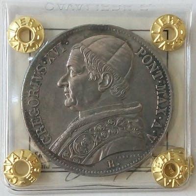 Italia - Stato Pontificio - Scudo 1835 - Anno V - Roma - Gregorio XVI - Argento