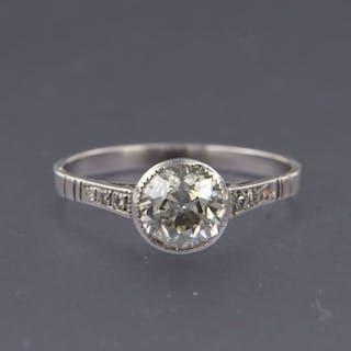 14 kt. White gold - Ring - 1.25 ct Diamond