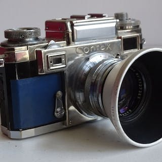 Zeiss Ikon Contax  3a + Sonnar Zeiss Opton f 1,5/50mm (Blue refurbished)