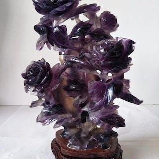 Figurine(s) - Quartz - Fleurs - Chine - Seconde moitié du XXe siècle
