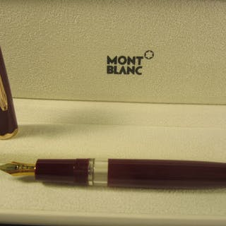 5f688cd2dcb63 Montblanc - Rare bordeaux fountain pen in rare 60s