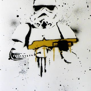 Star Wars - STORMTROOPERS GOLD Original signed by artist