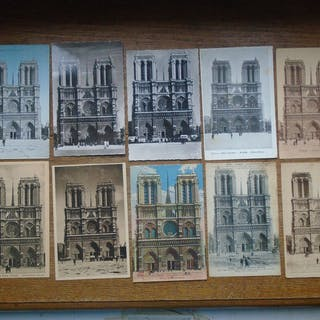 France - Notre-Dame Paris  - Cartes postales (Collection de 100) - 1906