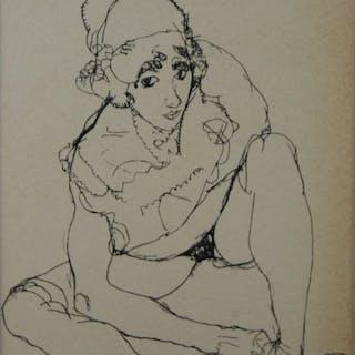 Egon Schiele (1890 - 1918) - Akt 1914.