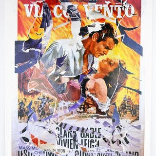 Mimmo Rotella - Via col Vento (Gone with the Wind)