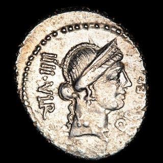 Roman Republic - Denarius- Lucius Flaminius Chilo