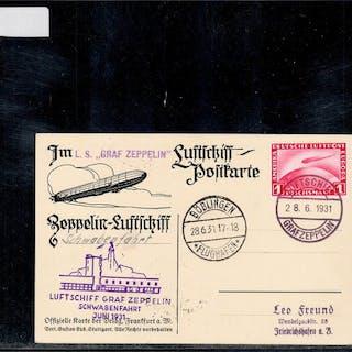 Deutsches Reich 1931 - Graf Zeppelin Schwabenfahrt 1931...