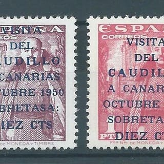 España 1951 - 'Visita Caudillo a Canarias' (Visit of...