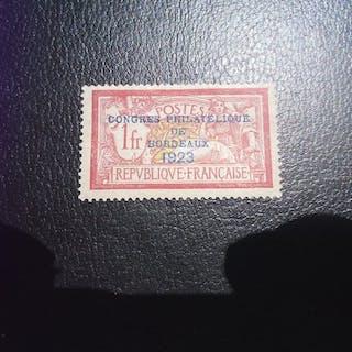 France 1923/1923 - timbre du congrès philatélique de Bordeaux 1923 - Yvert 182