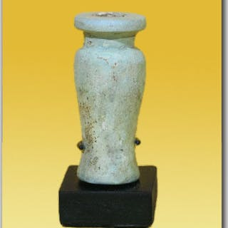 Ancient Egyptian Faience Votive Jar