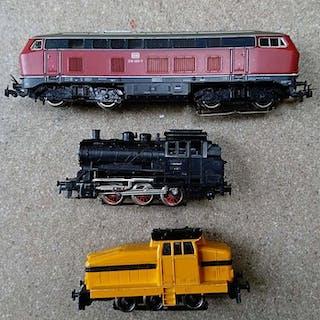 Märklin H0 - 3000/3075/3078 - Tenderlokomotive und Diesellokomotive - DB