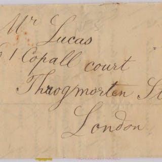 Gran Bretagna 1840 - Penny Black -Cover -plate V- - Yvert 1
